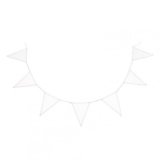Cotton & Sweets - Flagranke, Hvid med metallic mintsølvtråd
