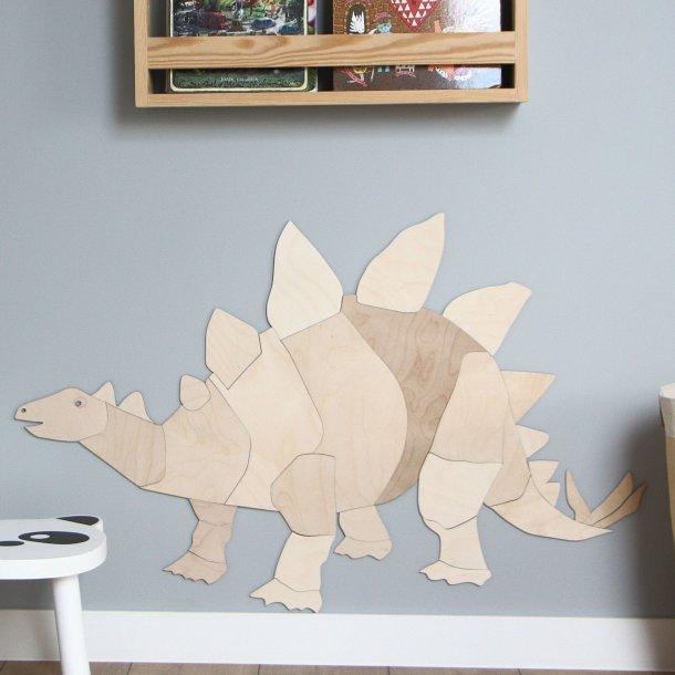 Dinosaur trædekoration - Stegosaurus (Tagøgle)