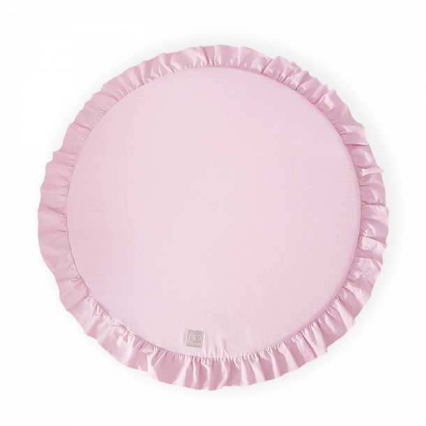 Legemadras m. flæsekant, Light Pink