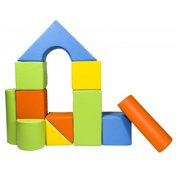 Legeskum sæt med byggeklodser - Multi