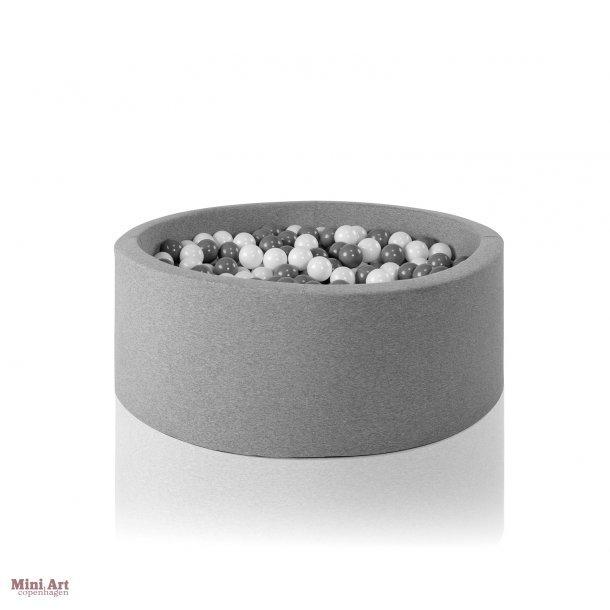 Misioo boldbassin - Grå XL - Rundt 115x40 inkl. 400 bolde