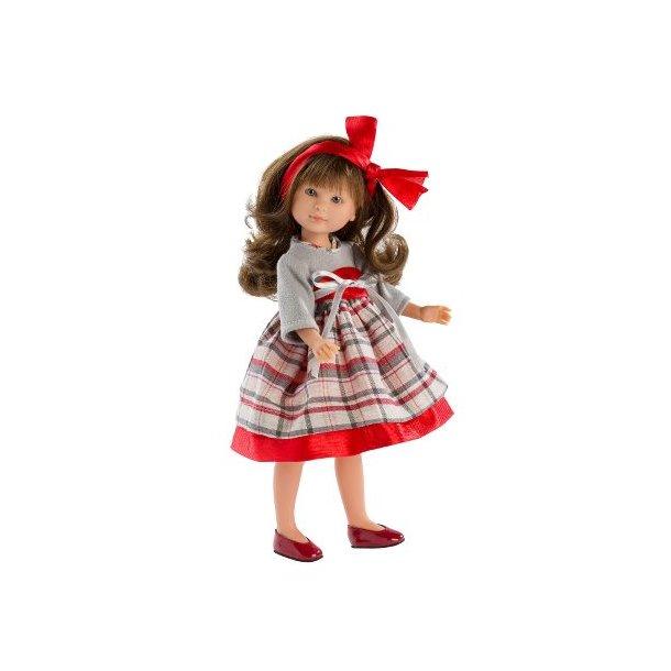 Asi dukke  - Celia (30 cm) m. rød kjole
