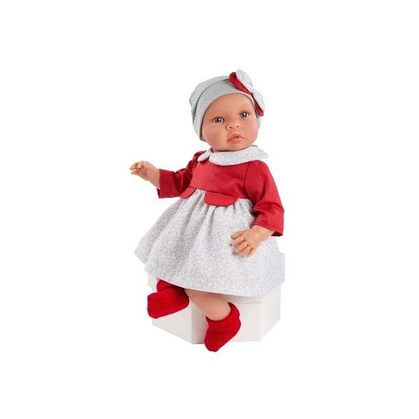 Asi dukke - Leonora (46 cm) m. rød kjole