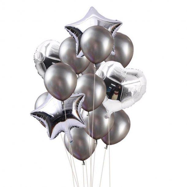 Balloner - Sølv - 14 stk