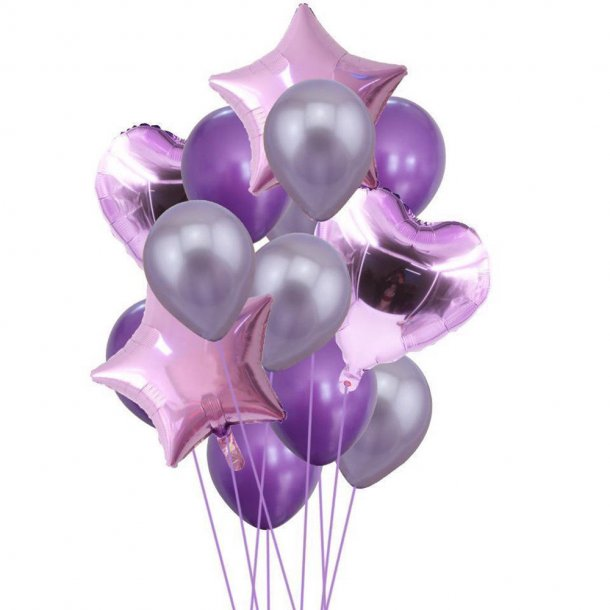 Balloner - Lilla - 14 stk